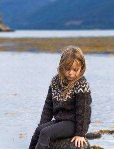 North Child sweater design Heima