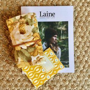 Ericka Eckles needle-wrap; Laine magazine.