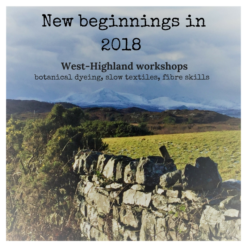 new workshops in Plockton for 2018