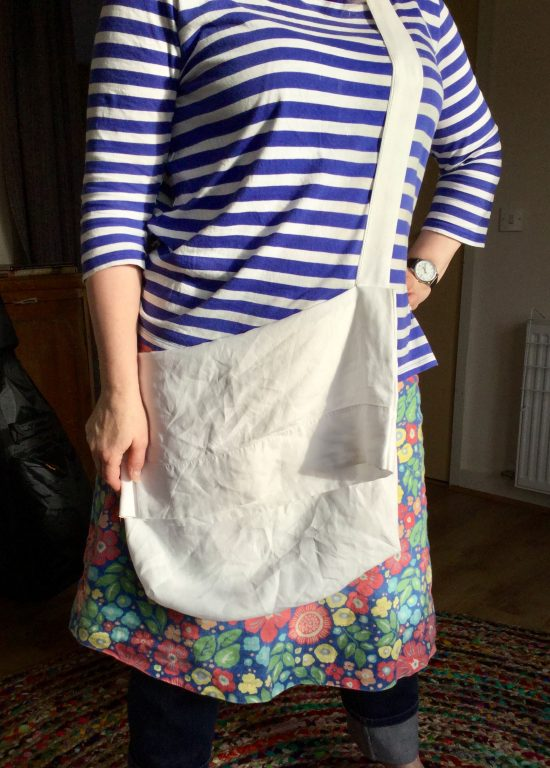 Linen foraging bag